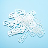 Clipe de vestido branco de forma quadrada de plástico para roupas (CD019-1)