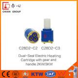 Robinet mélangeur en caoutchouc en plastique Robinet en céramique pour cartouche 40 mm 2 PCS