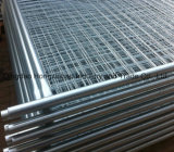 Engranzamento de fio que pulveriza cerca provisória revestida do PVC