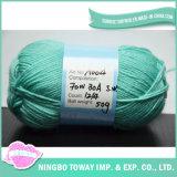 Mistura de lã merino acrílico verde Tecidos de fios têxteis
