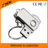 Movimentação dourada do flash do USB do metal da memória Flash do USB do fechamento