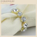 2017 anelli di tovagliolo acrilici ovali brillanti del Rhinestone per il favore di cerimonia nuziale