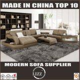 Sofa d'intérieur de cuir de forme du salon U