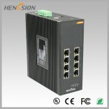 Interruptor industrial controlado da rede Ethernet de 8 gigabits porta elétrica