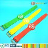Braccialetto astuto registrabile del silicone del Wristband di forma fisica 13.56MHz MIFARE 1K RFID di ginnastica