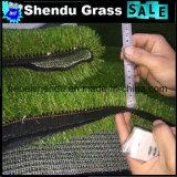 Tapete artificial da grama da forma de U com cor de tom 4 40mm