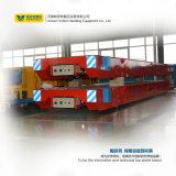 Carretilla motorizada de la transferencia de la fábrica de productos químicos de 50 toneladas con la placa de acero