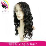 Fechamento brasileiro do Frontal da faixa do laço do cabelo humano 13*4*2 360 de Remy do Virgin da forma