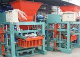 Máquina de fabricación de ladrillo hueco concreta simple del bloque Qt4-25