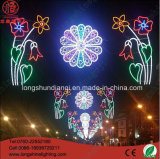 Diodo emissor de luz impermeável através da luz da decoração do Natal da rua