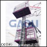 Passeggeri materiali della gru/costruzione della doppia gabbia di Gaoli ed elevatore del carico
