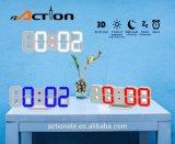 часы подарка таблицы стены 3D СИД цифров с режимом ночи