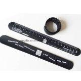 Kundenspezifisches Silikon-Klaps-Handgelenk-Band/Silikon-Klaps-Armband