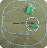 Divisor del PLC de la telecomunicación 1X4 Sc-APC de Gpon