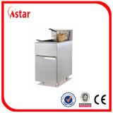 Frigideira profunda do gás ereto livre, frigideira comercial da galinha de Tailândia/peixes com controle do Temp para o restaurante