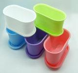 Jardinière en plastique avec design et couleur variés