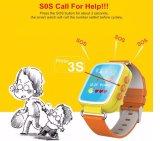 Q80 GPS Kid Smart Watch Montre-bracelet Sos Call Location Device Tracker pour enfant Safe Anti Lost Monitor Baby Gift Pk Q50 Q60V Noir
