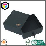 Rectángulo de papel del oro de la insignia del negro del color de la joyería de lujo del regalo