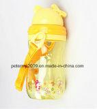 пластмасса перемещения 420ml ягнится бутылка воды с веревочкой, голубой бутылкой воды цвета