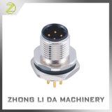 M12 Conector de montagem de painel macho Metal Corpo