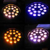 Alta potencia de 18x18W Zoom haz de luz LED PAR de latas