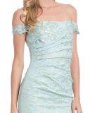 La robe de soirée de sirène de hors fonction-Le-Épaule de silhouette de Forme-Ajustage de précision
