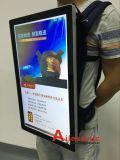 el panel del LCD del morral 15.6-Inch que hace publicidad del jugador de Viodeo con la señalización de Digitaces de la visualización del LCD del bolso