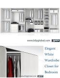 De elegante Witte Robe van de Slaapkamer van de Kast van de Garderobe Houten