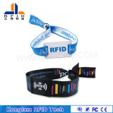 RFID trenzados coloridos modificados para requisitos particulares impermeabilizan el Wristband