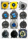 Euro zoccoli 4-Outlet dell'euro di cavo della bobina del ferro di cavo della bobina di Schuko della spina del VDE cavo del cavo H05VV-F 3G1.5mm2 25/50m