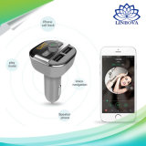Llamadas manos libres Bluetooth Car Kit transmisor de FM 3.4A doble de 2 puertos USB Cargador de coche coche MP3 LCD Reproductor de música Audio BT20