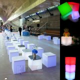 Mobília de rotação RGB LED Cube Chairs and Tables