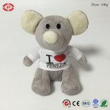 Peluches grises Soft Stuffed PP Cotton Elephant Jouet d'animaux pour enfants
