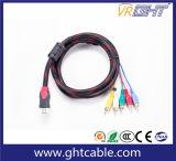 1,5 m de alta qualidade 5RCA para HDMI macho para cabo AV Masculino