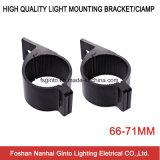 66-71mm Schwarzes/Splitter-Aluminiumhalterungen für LED-Licht (SG004)