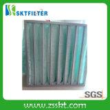 Filtro de ar central dos media do condicionamento de ar do punho branco verde de alumínio do algodão