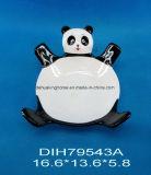 Ciotola Panda-A forma di di ceramica dipinta a mano della caramella