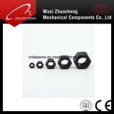 Hexagon-Standardkohlenstoffstahl-galvanisierte schwarze Mutter M6-30
