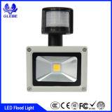 Luz de inundación al aire libre del sensor de movimiento de la garantía de IP65 3years 30W PIR LED