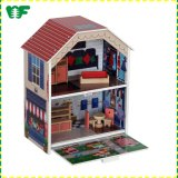 Hot Sale Kids Wooden Mini Toy Doll House Furniture