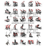 Carga de la placa lateral ISO Leg Press Hammer Strength equipos de gimnasia
