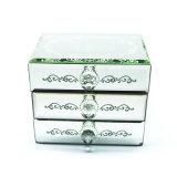 Gemaakt in Doos van de Juwelen van het Glas van de Spiegel van China de In het groot voor de Gift van het Huwelijk (hx-7238)