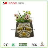 Plantadores pintados a mano decorativos del cráneo para los ornamentos del hogar y del jardín
