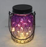 Elegantes purpurrotes sternenklares LED hängendes Laterne-Glaslicht der Feiertags-Dekoration-