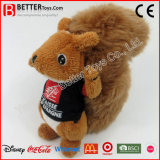 Jouet mou de peluche d'écureuil de peluche de cadeau de promotion pour des gosses