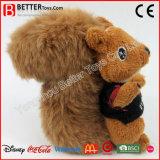 Brinquedo macio do luxuoso do esquilo do animal enchido do presente da promoção para miúdos