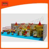Спортивная площадка темы замока крытая мягкая пластичная с парком Trampoline