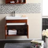 Estilo moderno Wall-Mounted armário de casa de banho de madeira maciça