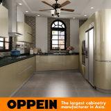Armadio da cucina Argento-Infiammante dorato verde moderno di Oppein (OP16-L26)