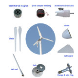 Generatore orizzontale di energia eolica di asse 2kw per la casa